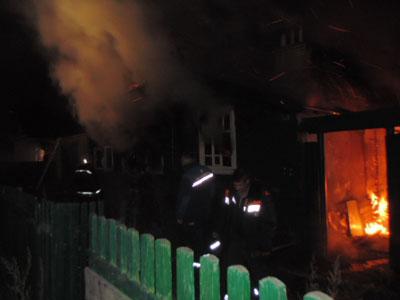 На ул.Бурматова горел дом