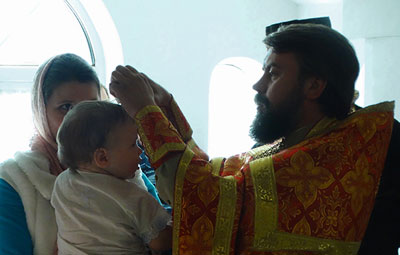В ИК-6 крестили ребенка
