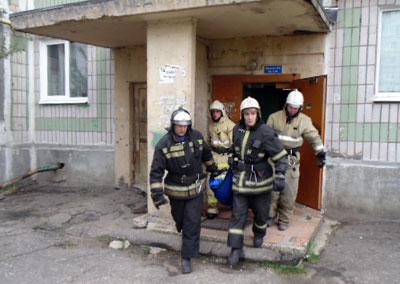 Спасли на пожаре