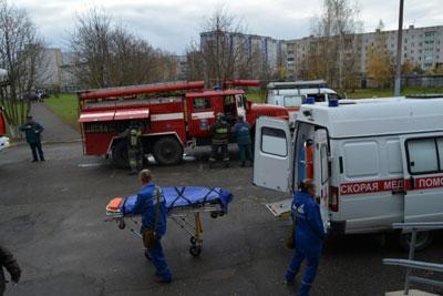 Взрыв газа - учения в Коврове