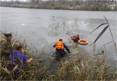 Выход на лед смертельно опасен!