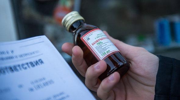На месяц приостановлена торговля спиртосодержащей непищевой продукцией