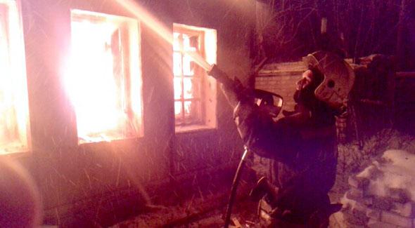 На Свердлова горел дом