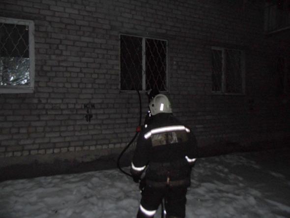 Пожар на ул.Лопатина