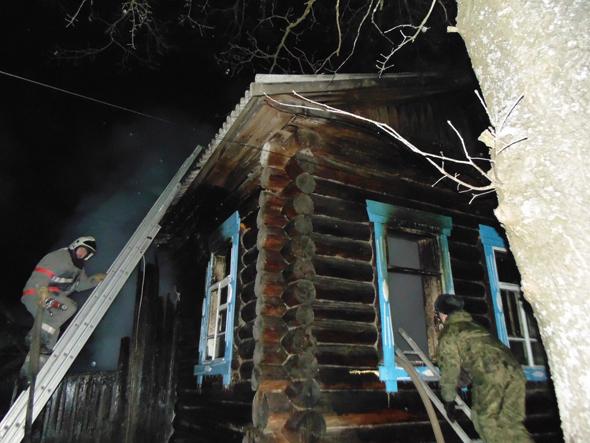На пожаре погибла пенсионерка