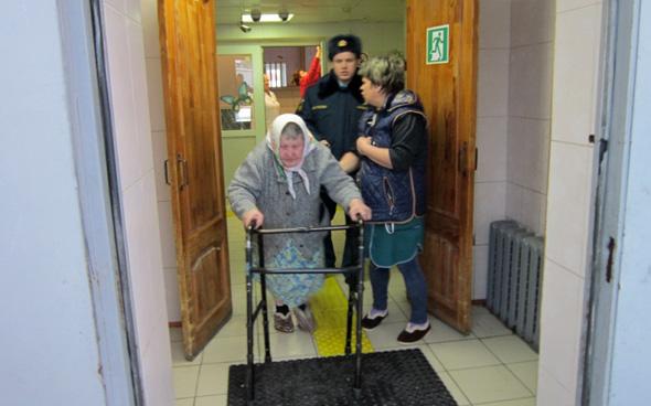 Учебная эвакуация в интернате
