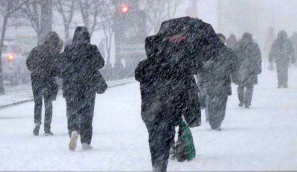 Снег и сильный ветер