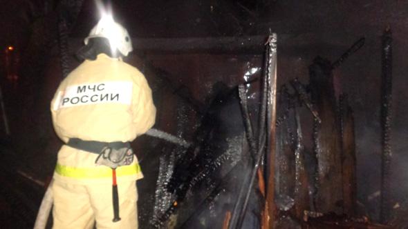 Пожар в д.Крячково и ложный вызов в школу