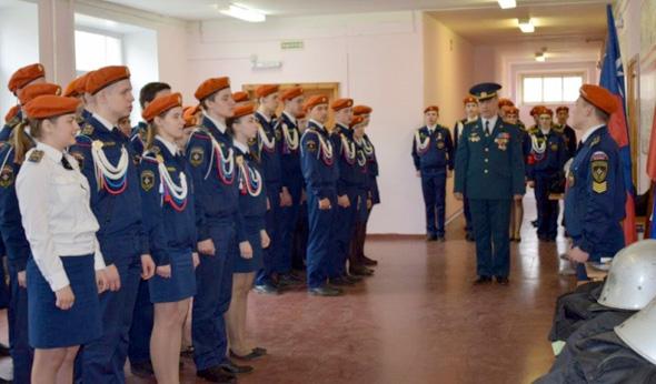 Соревнования кадетов МЧС
