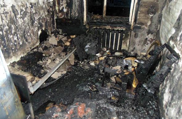 На ул.Киркижа горела квартира