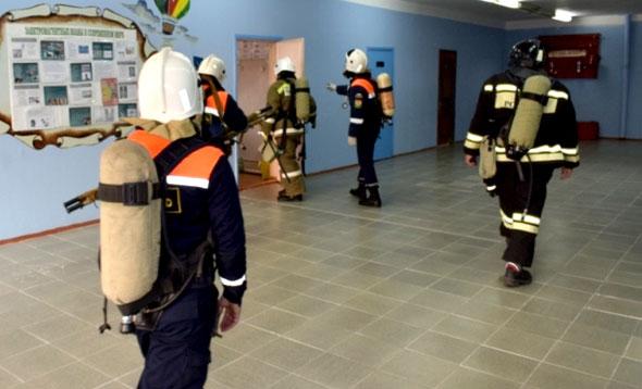 Взрыв газа и пожар в школе