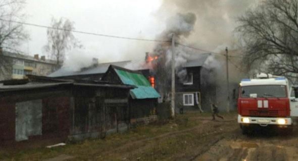 Спасли на пожаре 4 человек