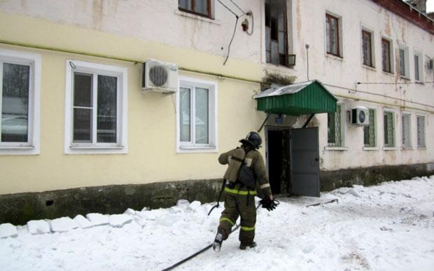 На пожаре спасли женщину