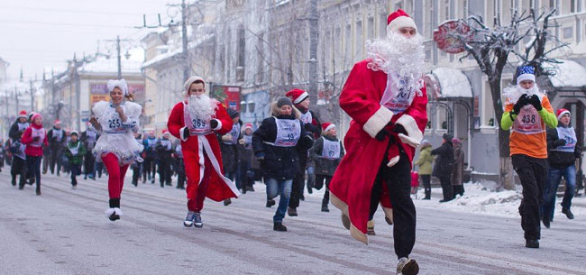 «Забег Дедов Морозов»