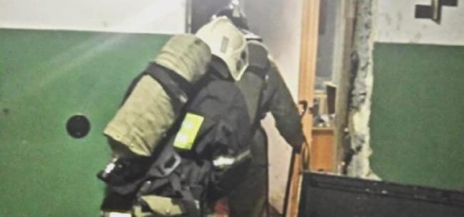 На пожаре на ул.Киркижа пострадал мужчина