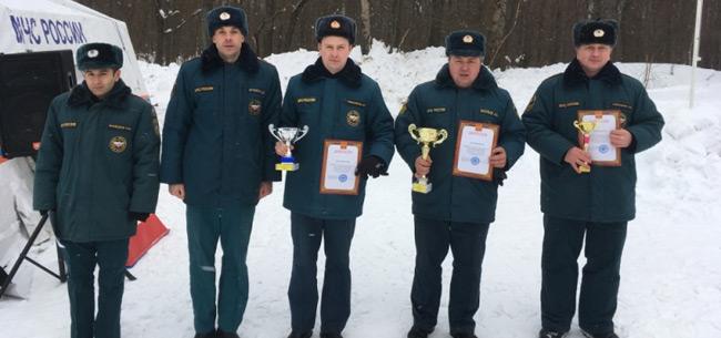 Соревнования по лыжным гонкам среди подразделений МЧС области