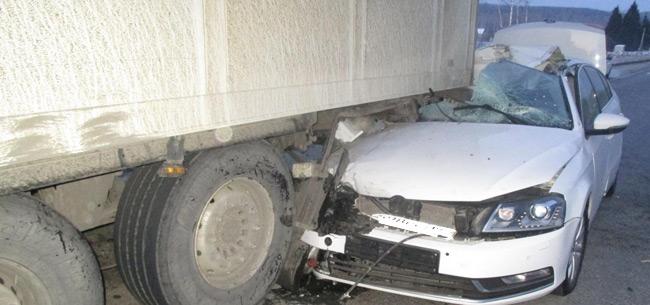 В аварии на трассе погиб пассажир