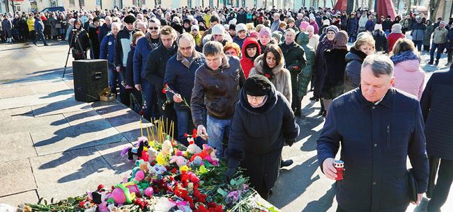 В Коврове прошла акция памяти жертв трагедии в Кемерово