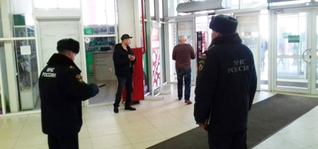 """Сотрудники МЧС провели учебную эвакуацию в ковровском ТЦ &quotТреугольник"""""""