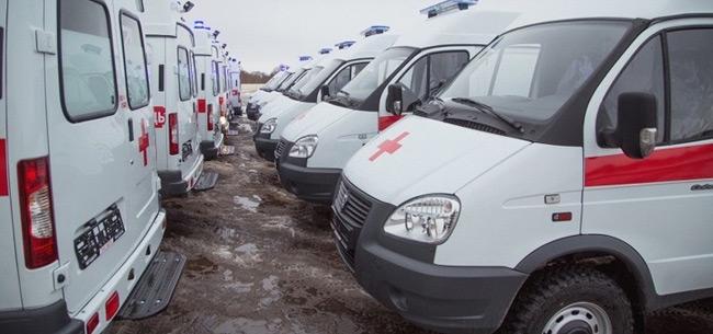 В область поступили 15 новых машин скорой помощи