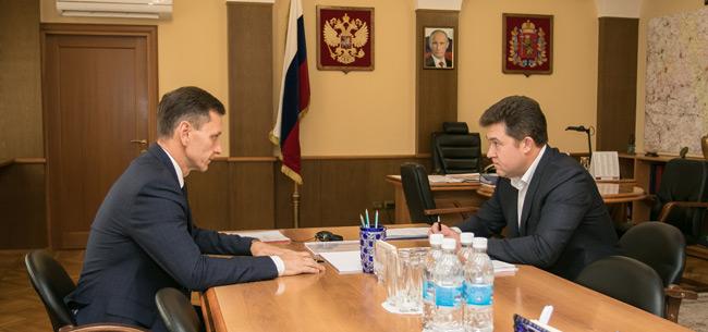 Губернатор провел рабочую встречу с руководителем &quotВладтеплогаза&quot