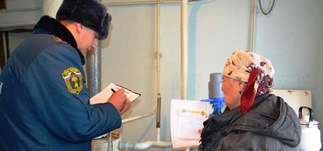 Совместный рейд сотрудников МЧС и филиала &quotГазпром газораспределение Владимир&quot