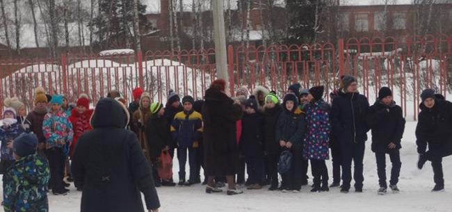 В Осиповской школе сотрудники гражданской обороны Ковровского района провели соблюдение пожарной безопасности