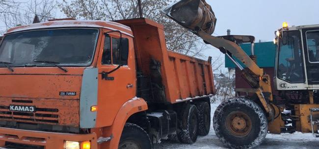 Вывоз снега и подготовка к весне