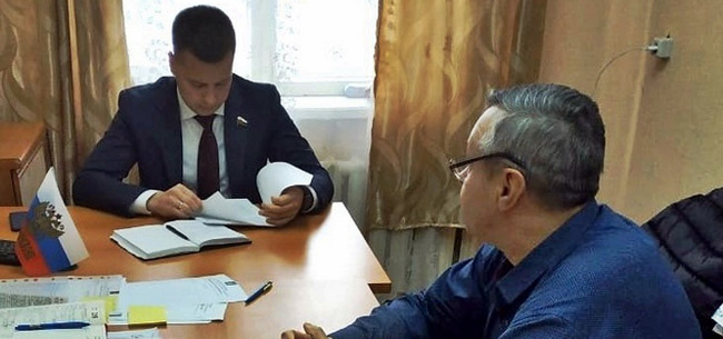 В Коврове приме граждан провел член Совета Федерации Александр Пронюшкин