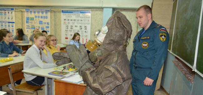 Сотрудники МЧС Коврова провели открытый урок по ОБЖ в школе №21