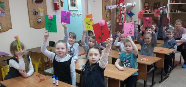 Масленица для ребят ковровской школы №4 и Дома детского творчества
