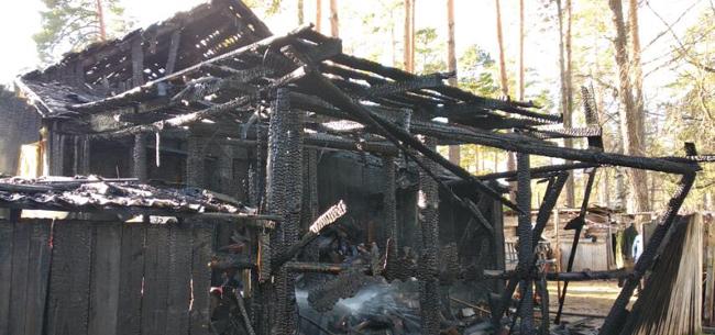 Пожар в Ковровском районе