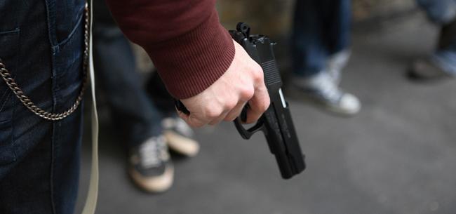 В кафе с пистолетом