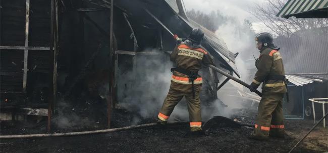 Пожар в Сергейцево