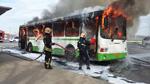 Во Владимире сгорел автобус